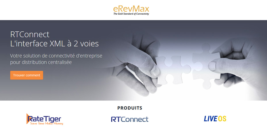 Winhôtel interface eRevMax - solutions Rate Tiger et RT connect
