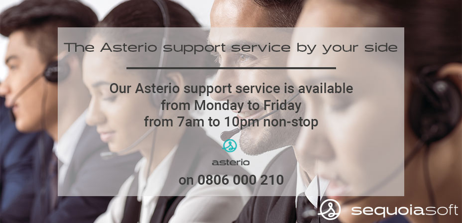 The Asterio support service by your side