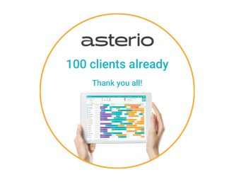 Asterio 100 clients already